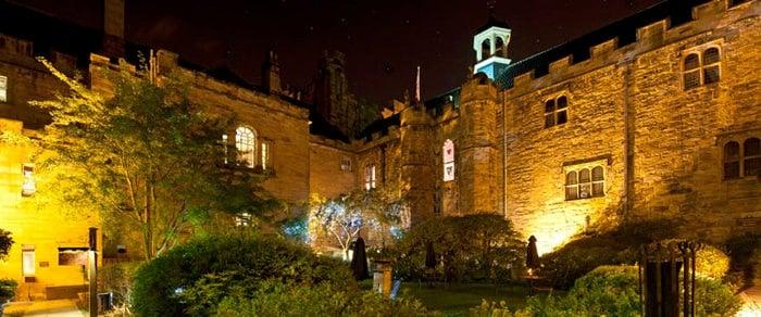 lumley castle courtyard